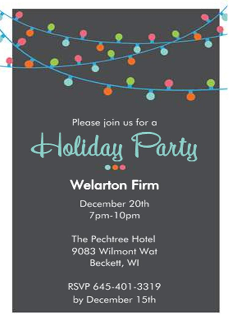 Company Christmas Invitations Templates Invitation Template Ideas throughout measurements 750 X 1050