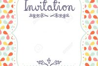 Cute Invitation Template For Festive Events Royalty Free Cliparts inside measurements 1204 X 1300