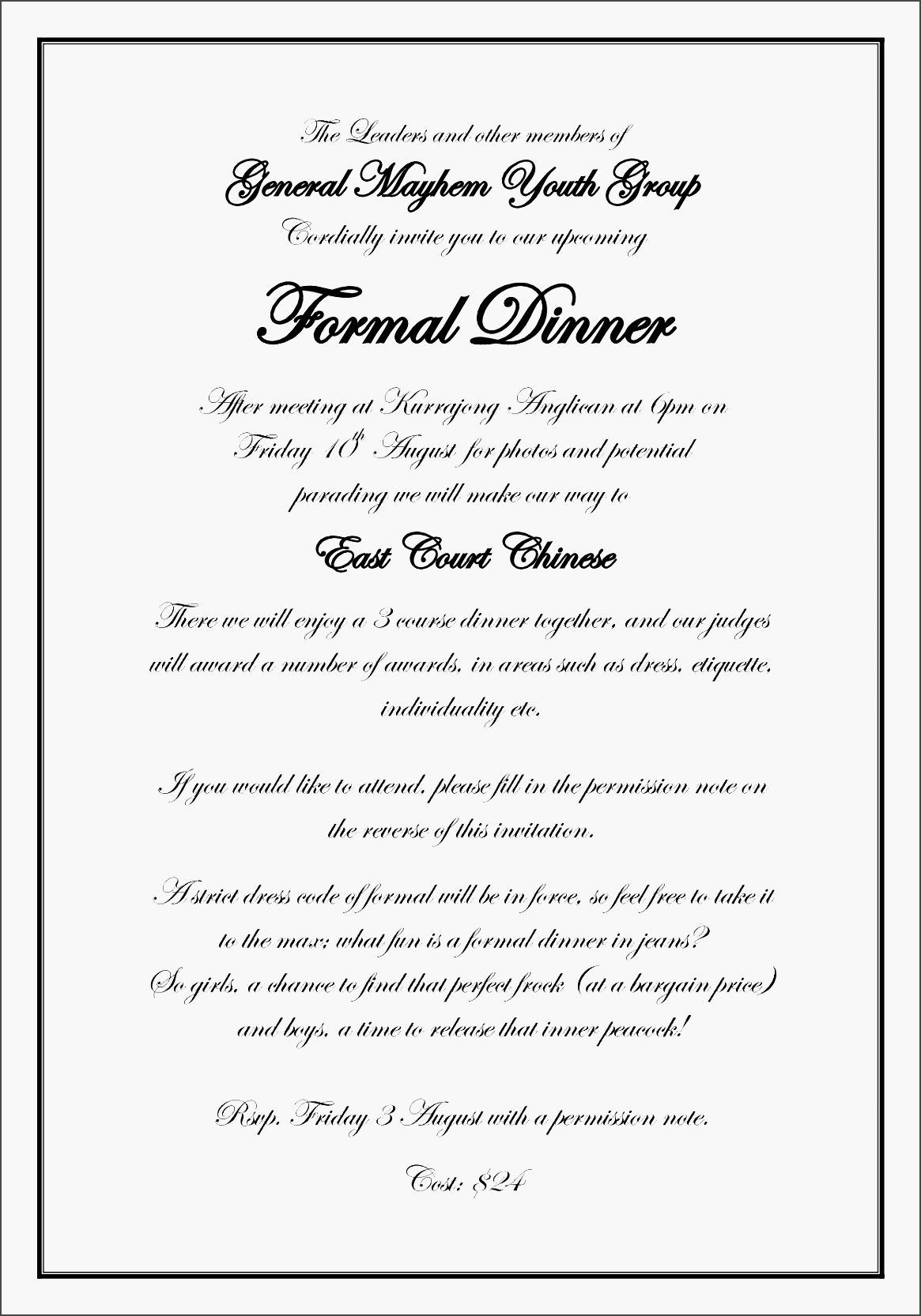 Dinner Invitation Letter Template Invitation Templates Free for proportions 1165 X 1666