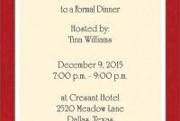 Dinner Invitation Template Free Places To Visit Dinner Party throughout size 750 X 1075