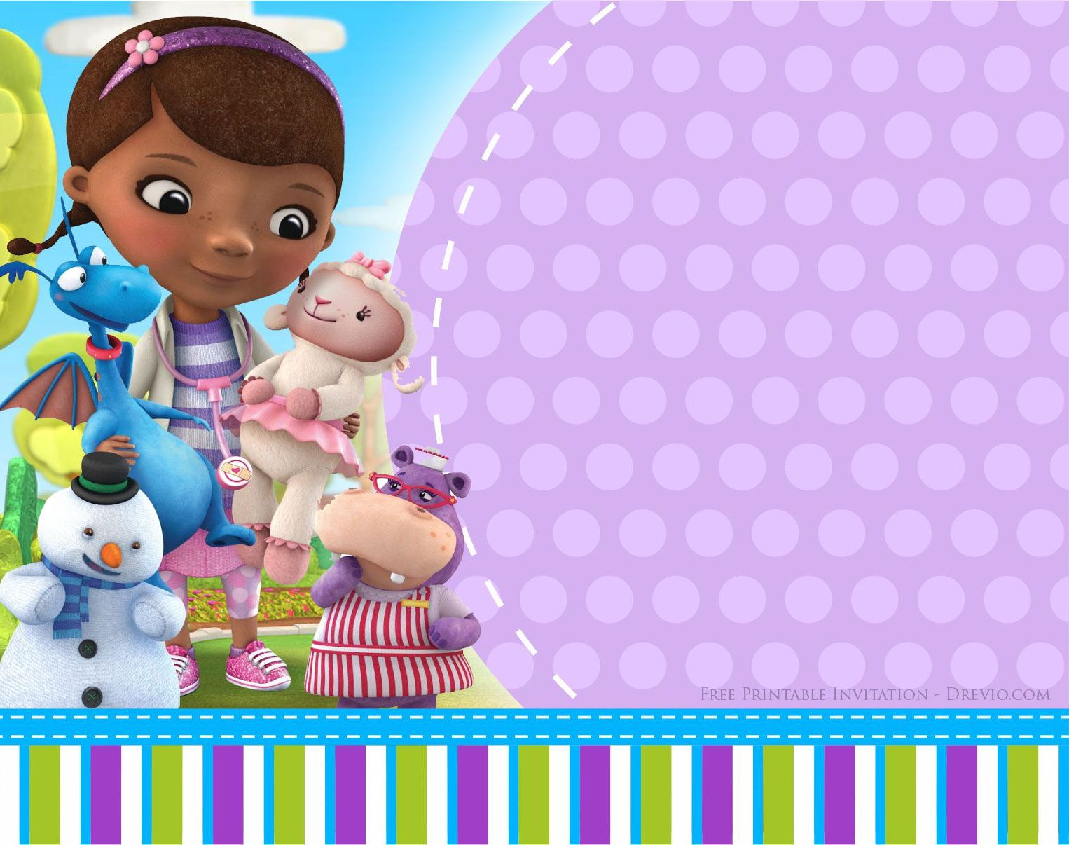 Doc Mcstuffins Birthday Invitation Party Printables Doc inside dimensions 1526 X 1206