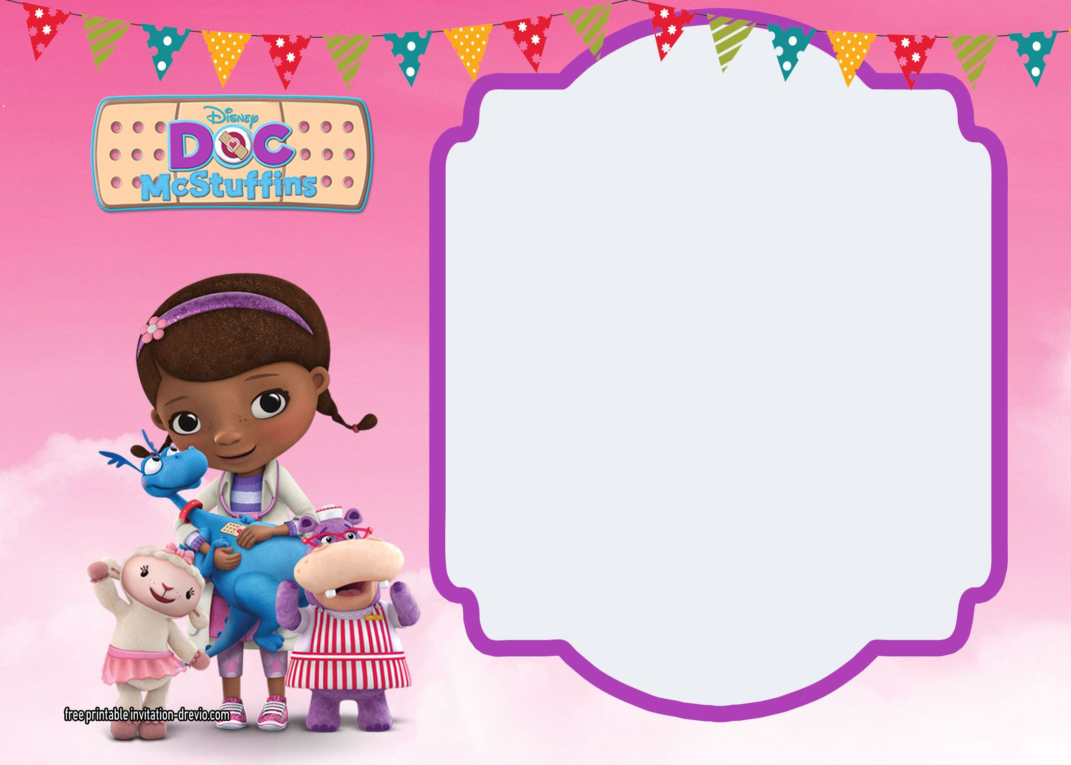 Doc Mcstuffins Birthday Invitation Party Printables Doc with regard to dimensions 2100 X 1500
