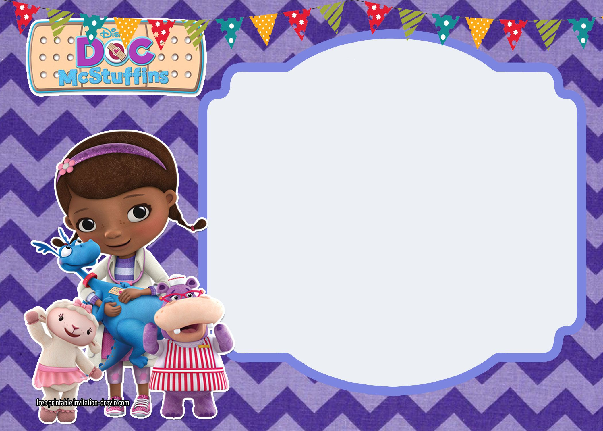Doc Mcstuffins Birthday Invitation Party Printables Free regarding measurements 2100 X 1500