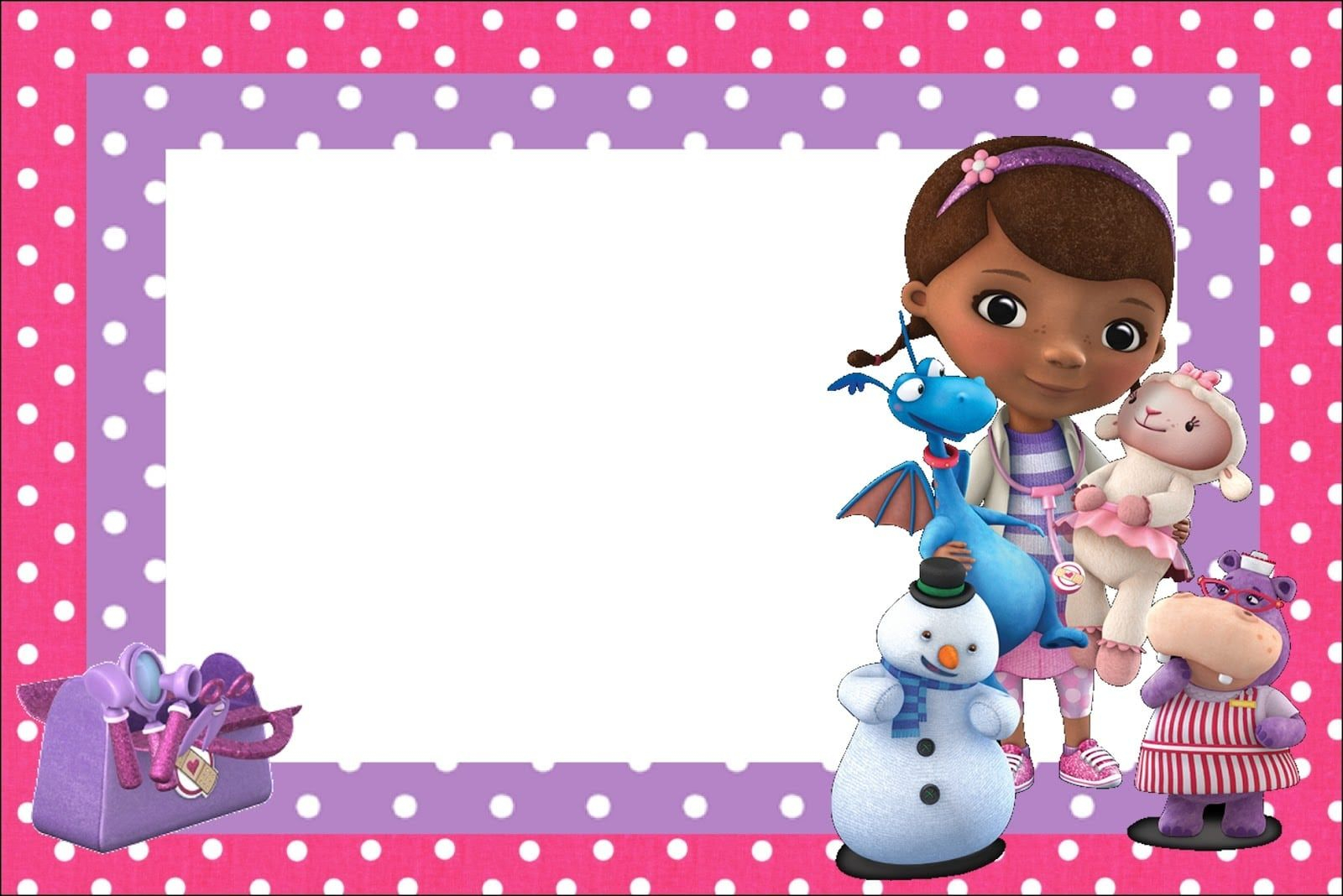 Doc Mcstuffins Birthday Invitations Party Boards Doc Mcstuffins pertaining to measurements 1600 X 1068