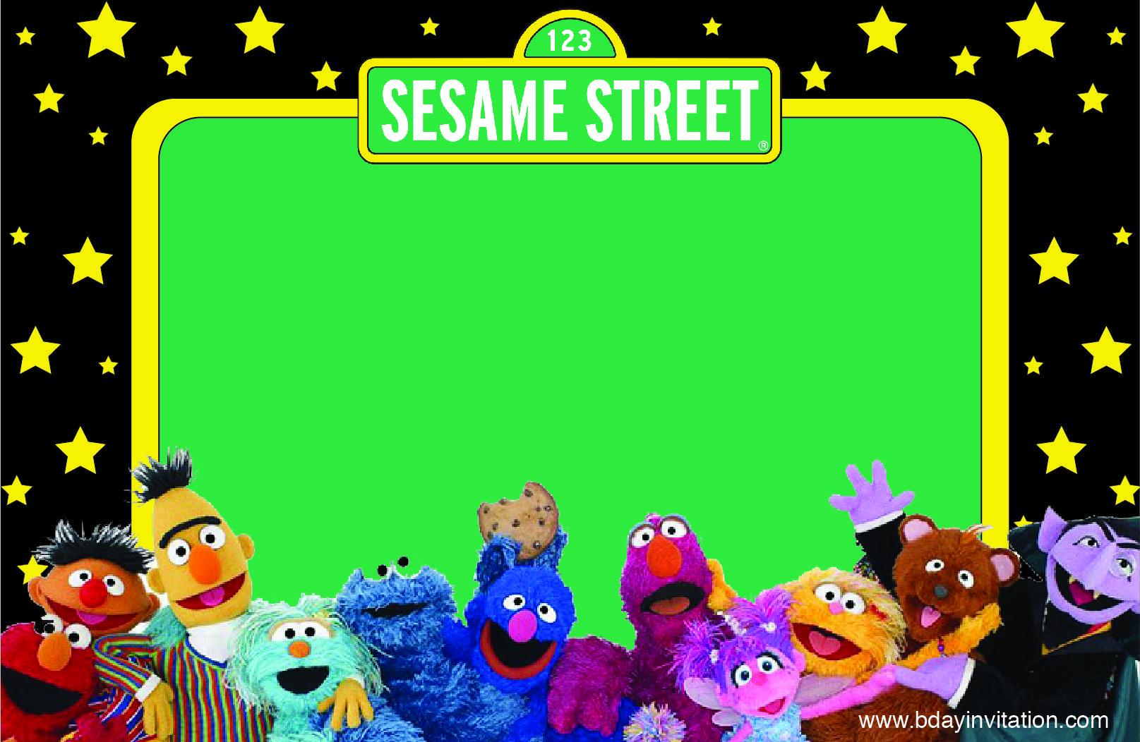 Download Now Free Printable Sesame Street Birthday Invitation within sizing 1615 X 1052