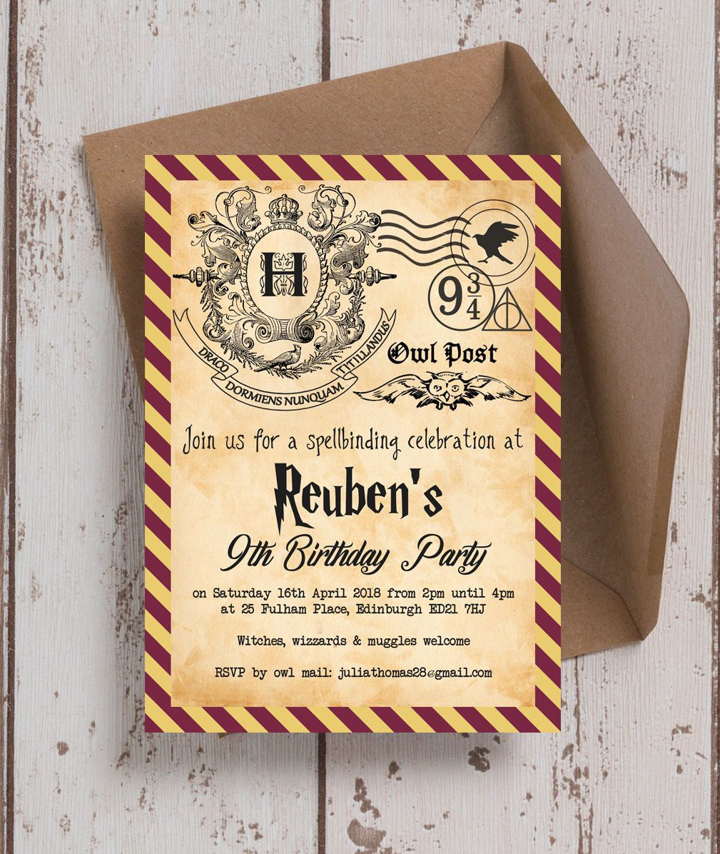 Download Now Harry Potter Ticket Invitation Template Bagvania inside proportions 1009 X 1196