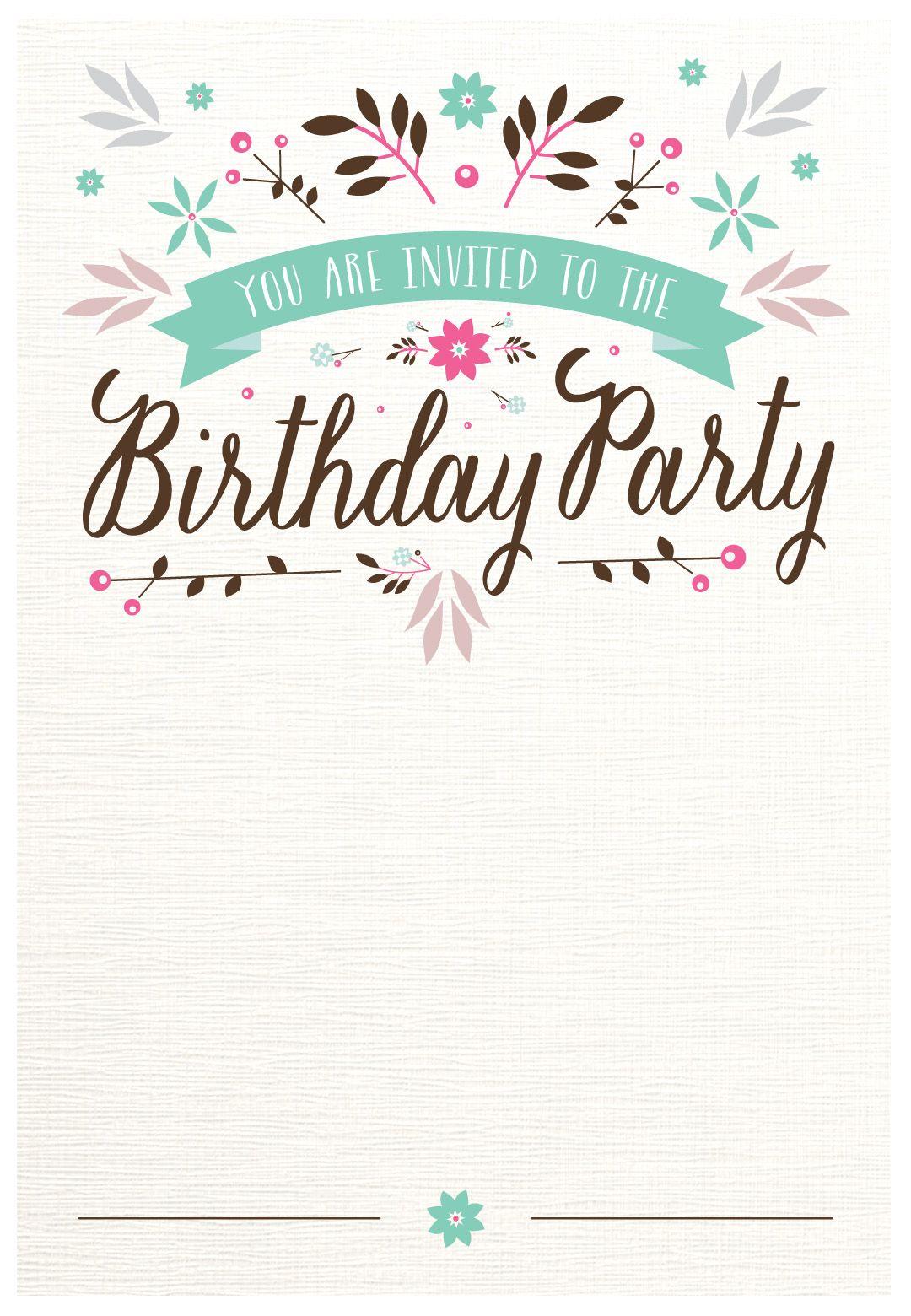 Hy Birthday Invitation Template