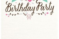 Flat Floral Free Printable Birthday Invitation Template inside dimensions 1080 X 1560