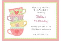 Free Afternoon Tea Party Invitation Template Tea Party In 2019 with dimensions 1200 X 879