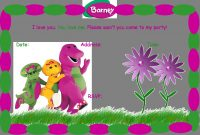 Free Barney Birthday Party Invitation Birthday Party Ideas throughout sizing 1505 X 1037