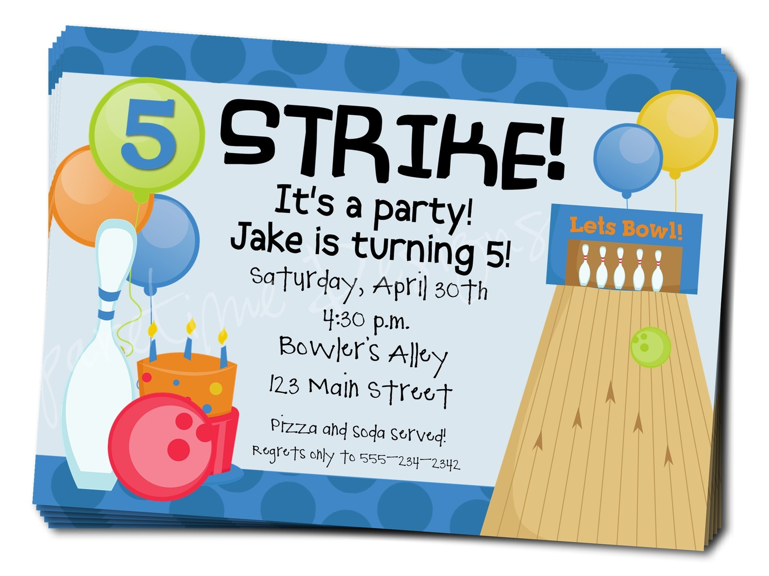 Free Bowling Party Invitation Templates Download Free Clip Art pertaining to size 1500 X 1125