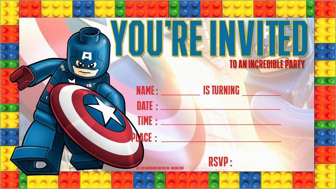 Free Captain America Invitation Templates Unique Captain America with regard to proportions 1280 X 720