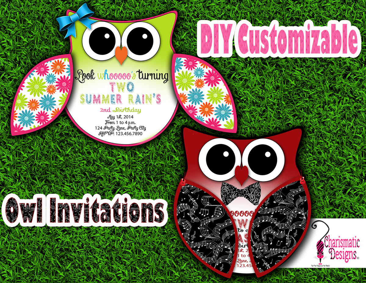 Free Diy Customizable Owl Invitation Printable Template On Behance within measurements 1200 X 927