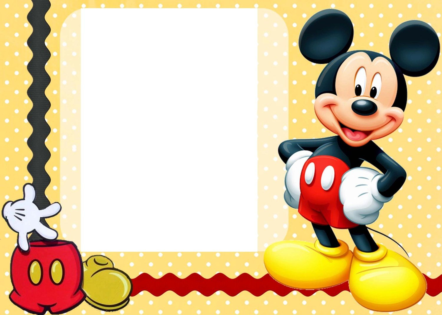 Free Free Printable Custom Mickey Mouse Ba Shower Invitation with sizing 1500 X 1071