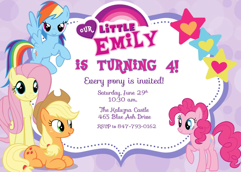 picture relating to Free Printable My Little Pony Birthday Invitations named My Tiny Pony Birthday Bash Invitation Template Company