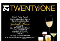 Free Printable 21st Birthday Invitations Templates 21st Birthday with size 1500 X 1228