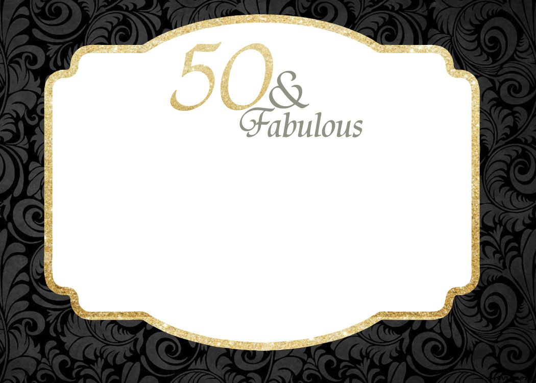 Free Printable 50th Birthday Invitations Free Printable regarding size 1050 X 750
