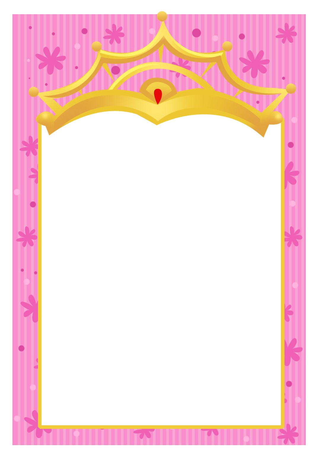 Free Printable A Little Princess Invitation Another Free Template pertaining to measurements 1080 X 1560