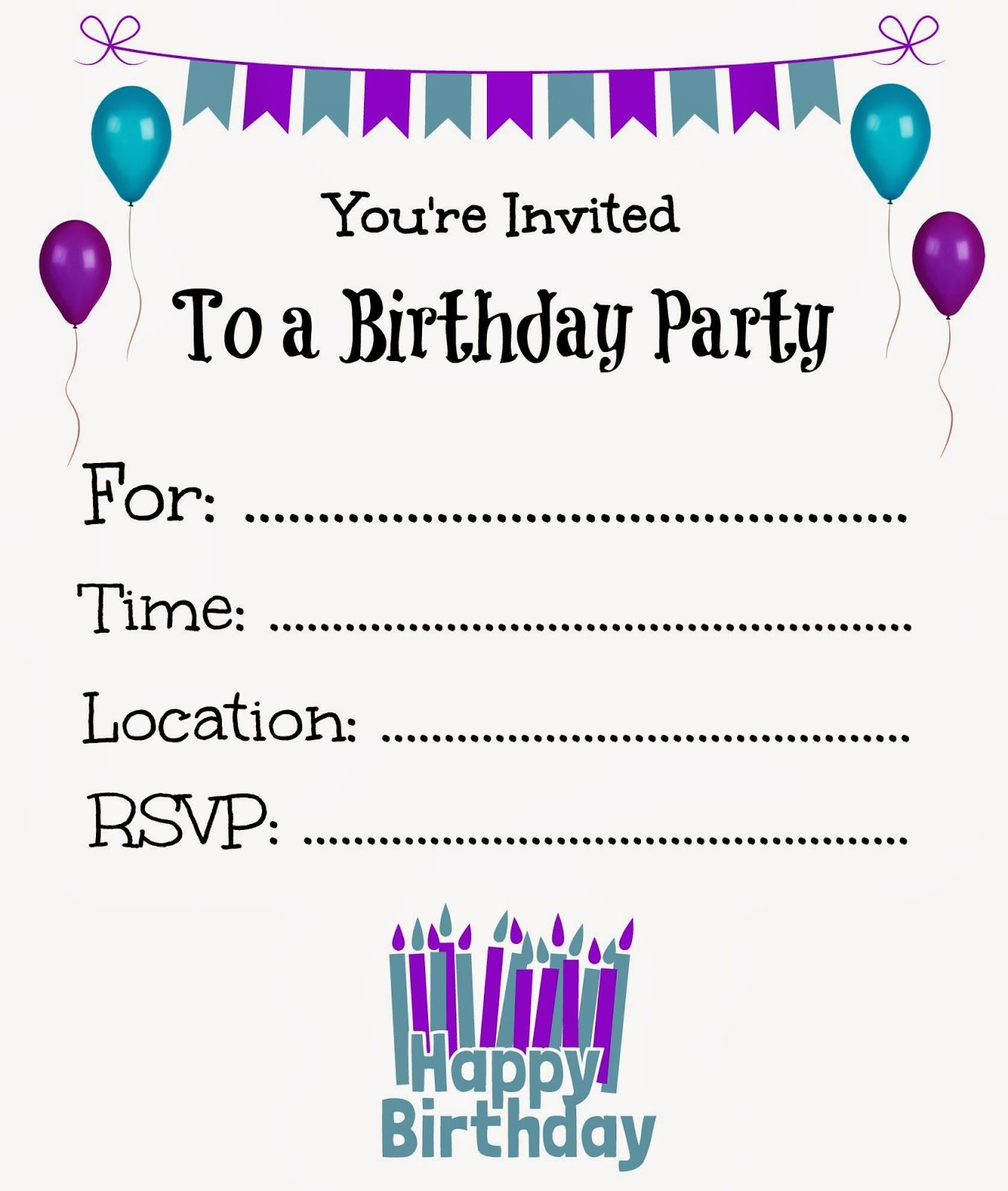 Free Printable Birthday Invitations For Kids Freeprintables pertaining to dimensions 1354 X 1600