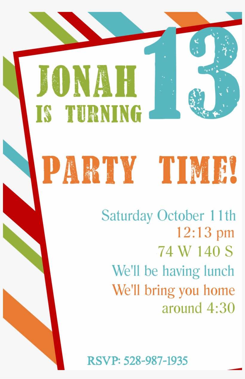 Free Printable Birthday Party Invitation Templates Teen Boy throughout measurements 820 X 1270