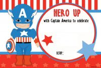 Free Printable Captain America Birthday Invitation Free throughout sizing 1600 X 1067