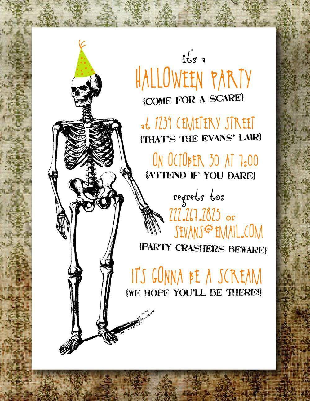 Free Printable Halloween Invitation Templates Free Printable with regard to proportions 1000 X 1293