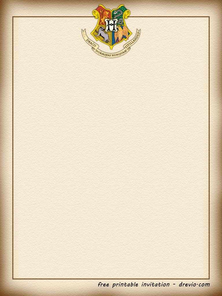 picture relating to Harry Potter Invitations Printable referred to as Invitation Toward Hogwarts Template Office environment Template Plans