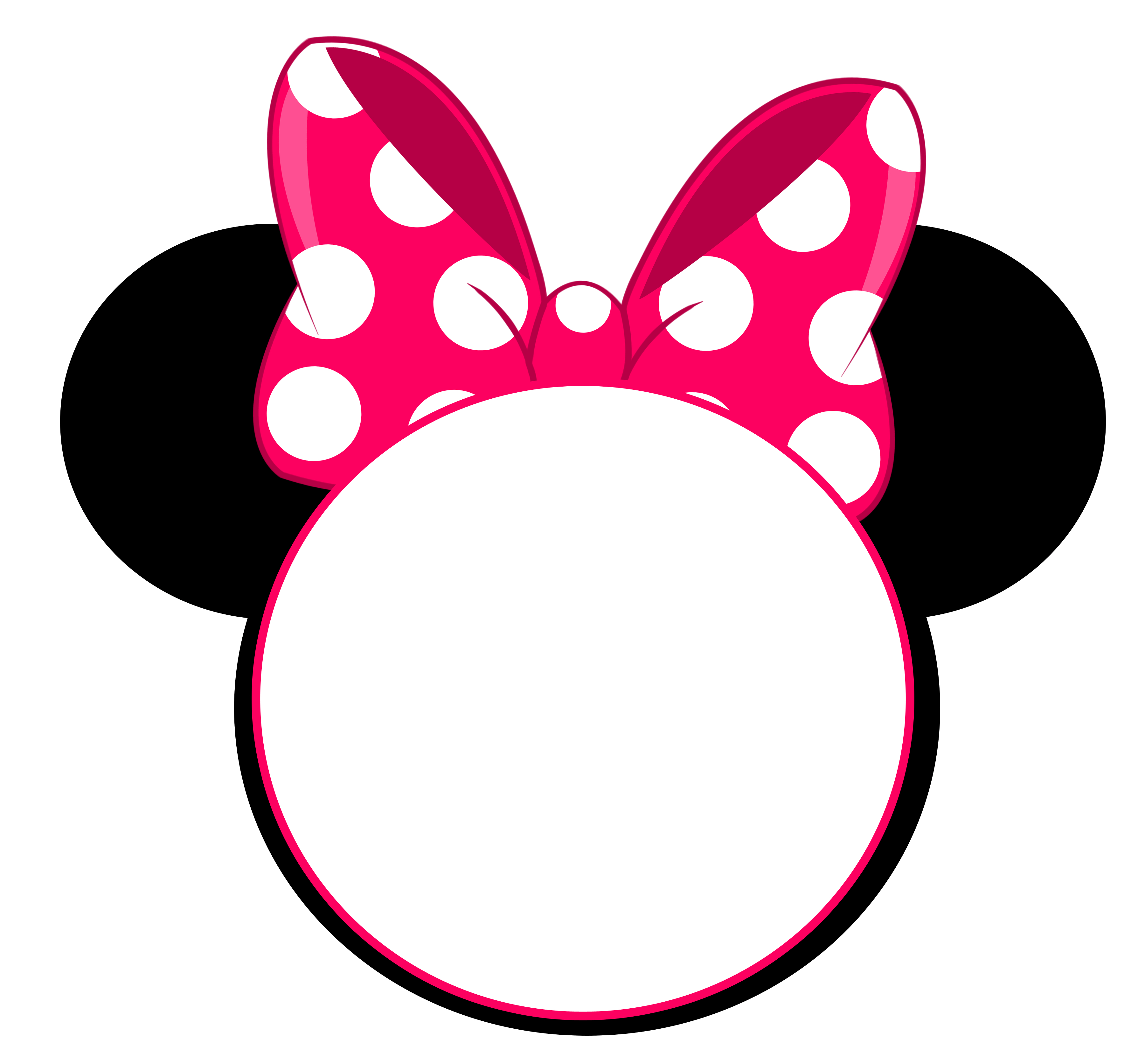 graphic relating to Printable Minnie Mouse Head Template named Minnie Mouse Brain Invitation Template Office Template Designs
