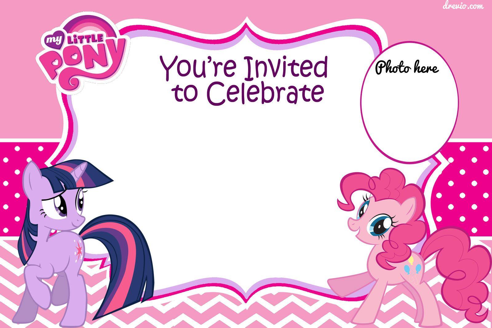 Free Printable My Little Pony Birthday Invitation Graphics My for sizing 1600 X 1067