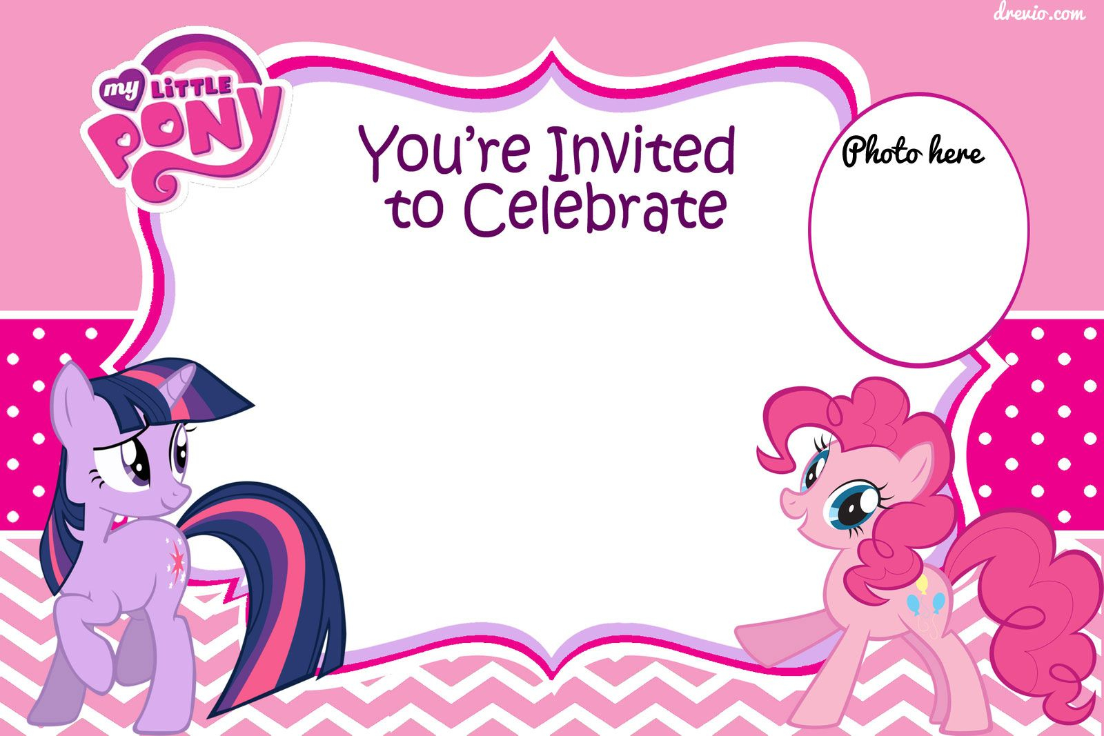 photo about My Little Pony Printable Invitations identify My Minimal Pony Birthday Get together Invitation Template Business enterprise