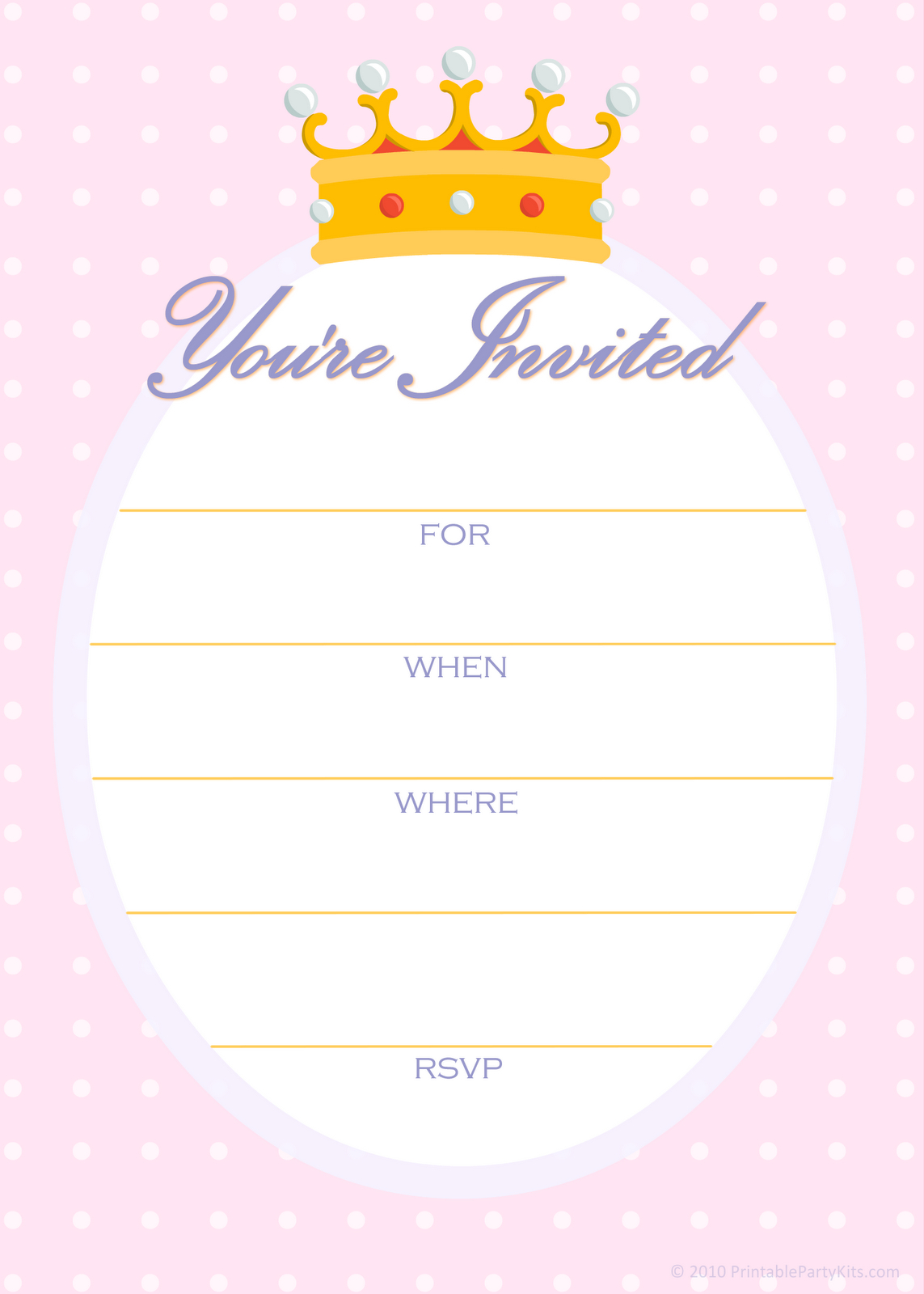 Free Printable Party Invitations Free Invitations For A Princess pertaining to size 1143 X 1600