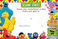 Free Printable Sesame Street Birthday Free Printable Birthday inside proportions 1600 X 1143