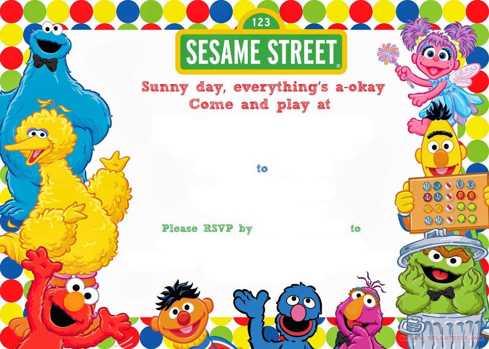 Free Printable Sesame Street Birthday Free Printable Birthday inside proportions 1600 X 1143