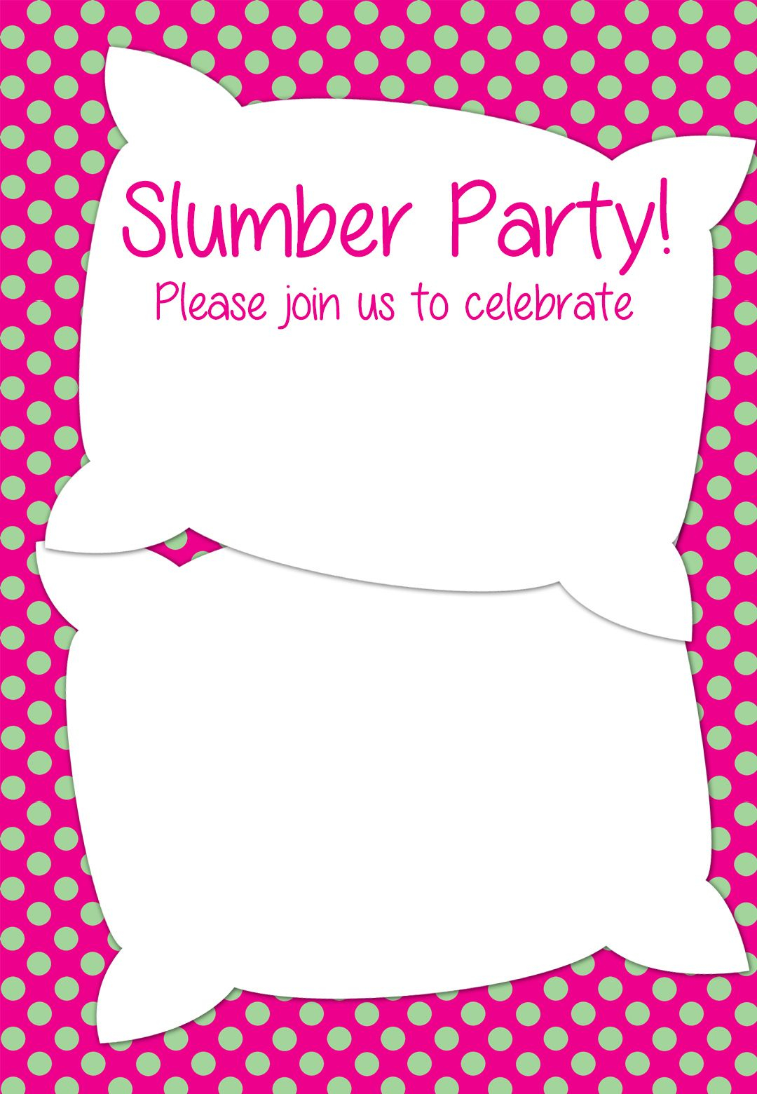 Free Printable Slumber Party Invitation Party Ideas In 2019 for sizing 1080 X 1560