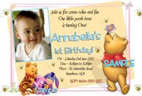 Free Printable Winnie The Pooh 1st Birthday Invitations Projects intended for proportions 1200 X 796