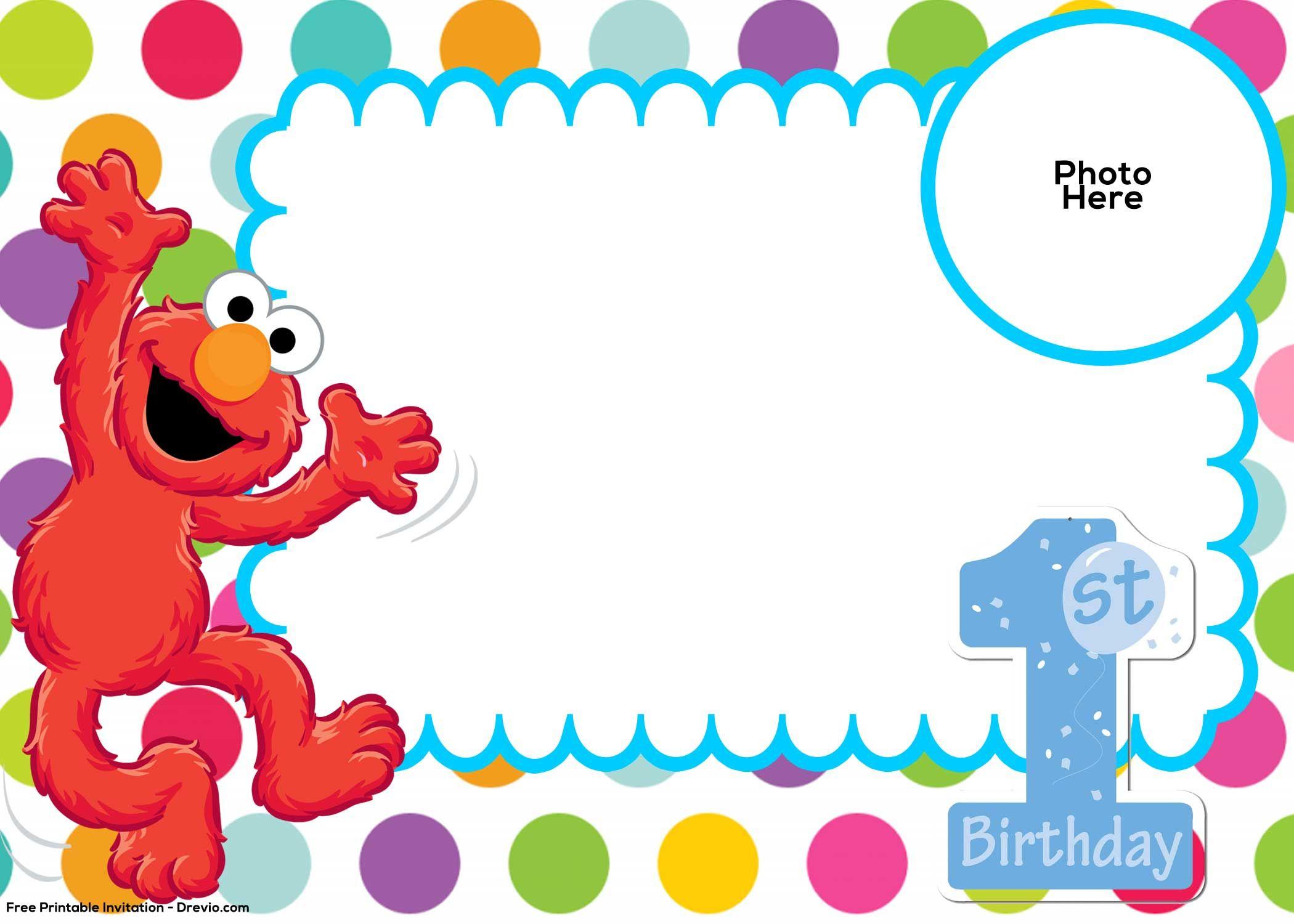 Free Sesame Street 1st Birthday Invitation Free Printable with regard to measurements 2100 X 1500