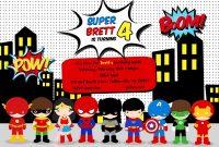 Free Superhero Birthday Party Invitation Templates Birthday Party with size 1600 X 1143
