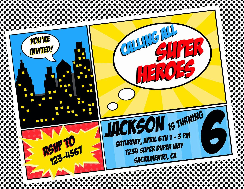 Free Superhero Invitation Templates Invitation Templates within size 1500 X 1163