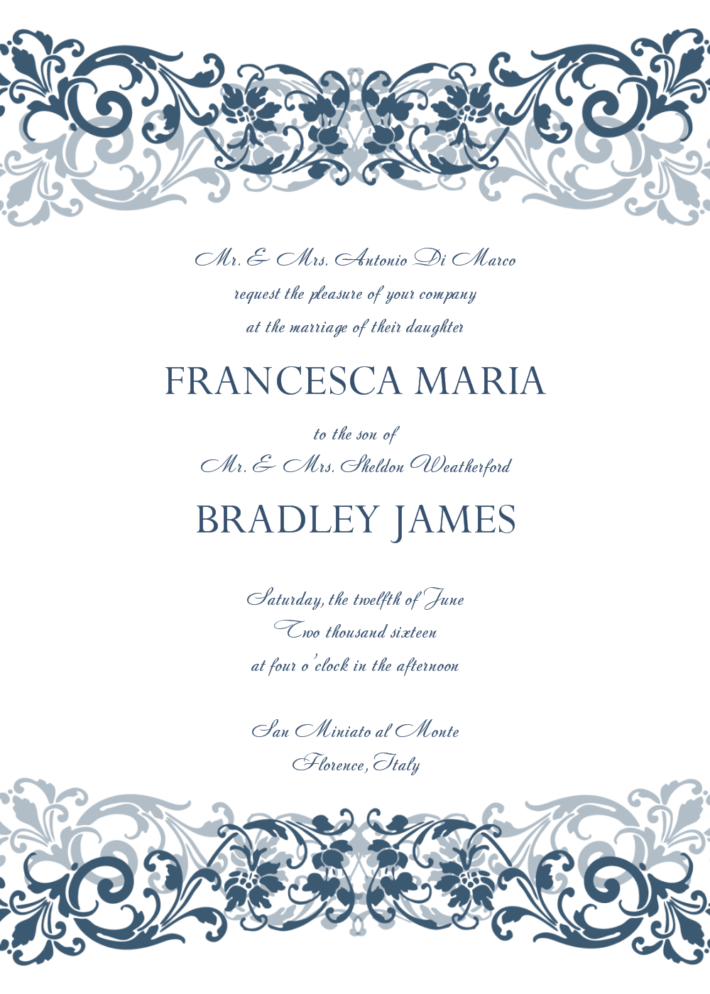 Free Wedding Invitation Templates For Word Wedding Invitation within measurements 1000 X 1400