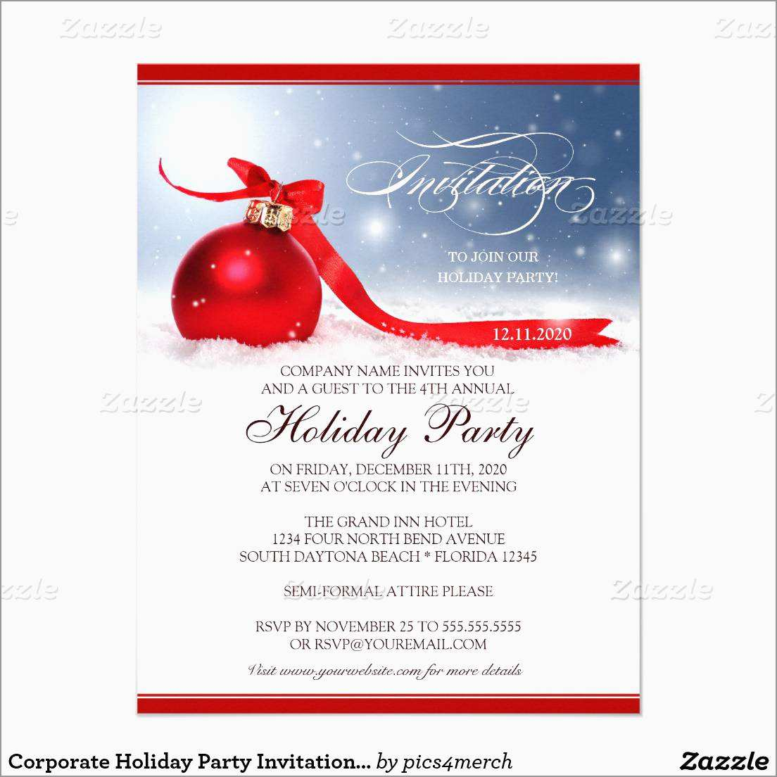 Fresh Company Christmas Party Flyer Template Free Best Of Template within dimensions 1104 X 1104