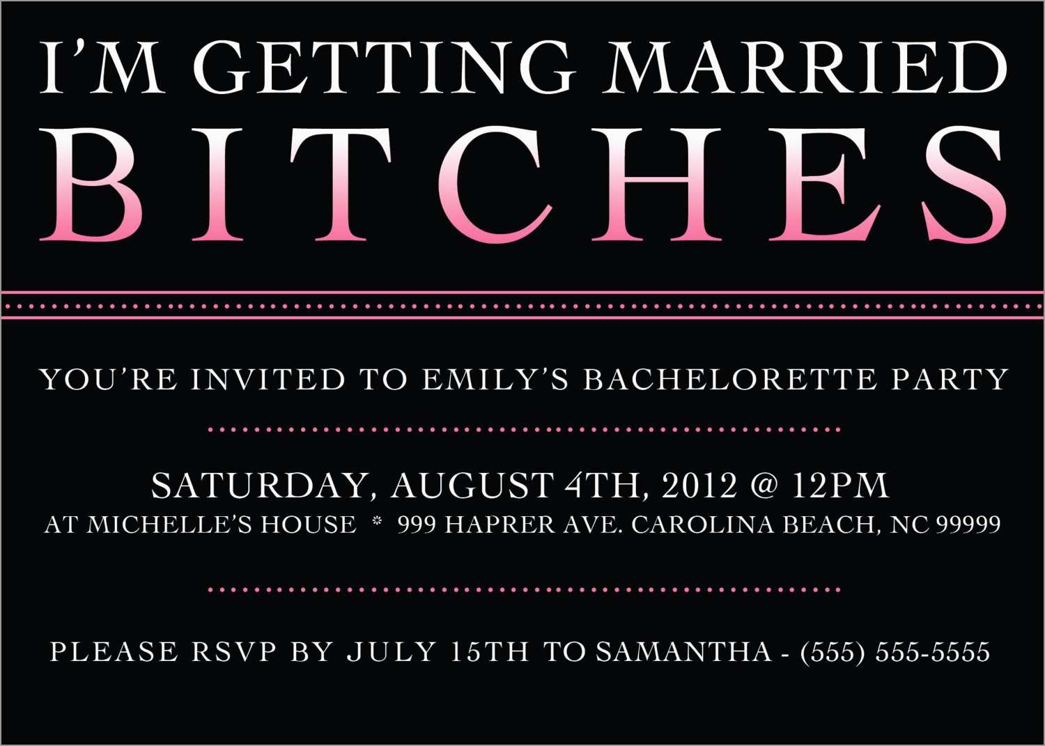 Fresh Free Bachelorette Party Invitation Templates Best Of Template regarding sizing 1500 X 1071