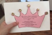 Fun And Cheap Diy Invitation For A Princess Birthdayba Shower pertaining to dimensions 2208 X 1656