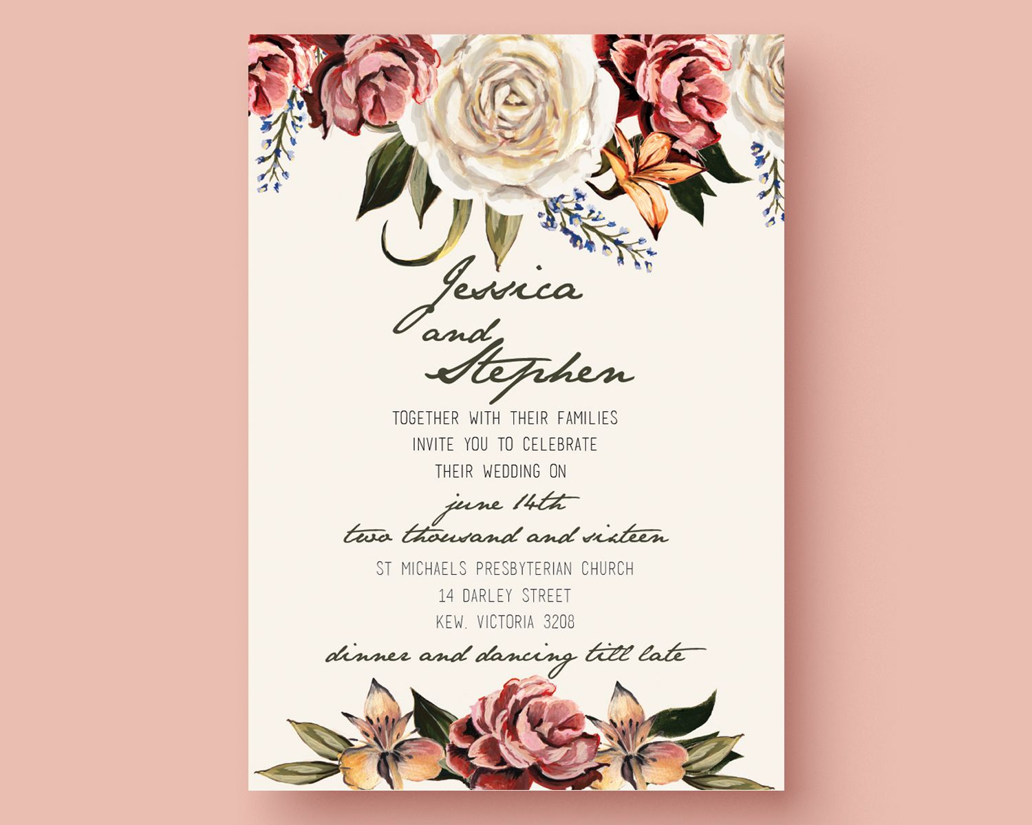 Digital Wedding Invitation Templates • Business Template Ideas