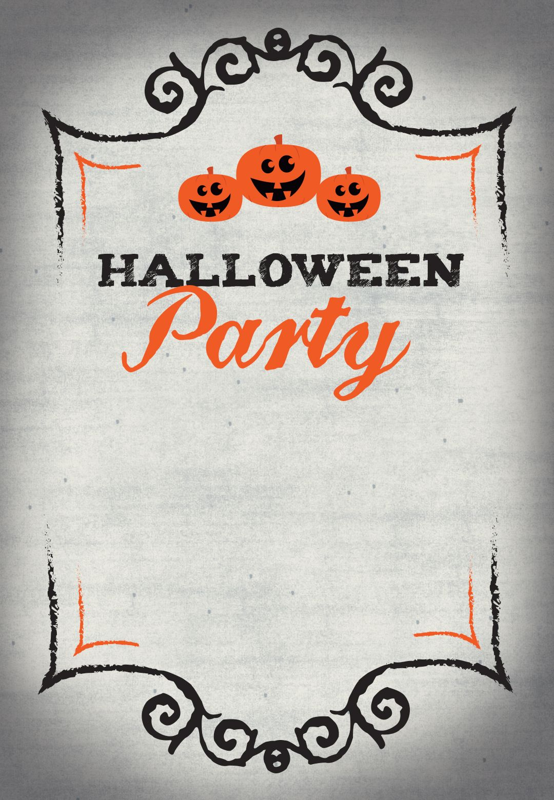 Halloween Party Free Printable Halloween Invitation Template for proportions 1080 X 1560