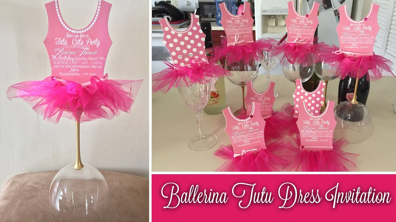 Jars Beyond How To Make Ballerina Invitations Diy Ballerina with regard to sizing 1280 X 720