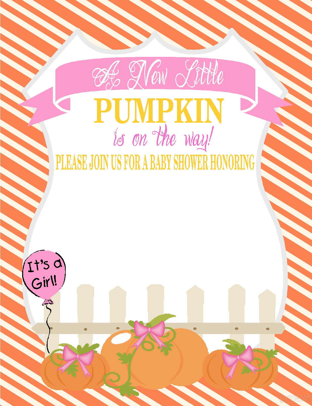 Little Pumpkin Ba Shower Invitations Lets Do It Cakraest in measurements 1239 X 1614