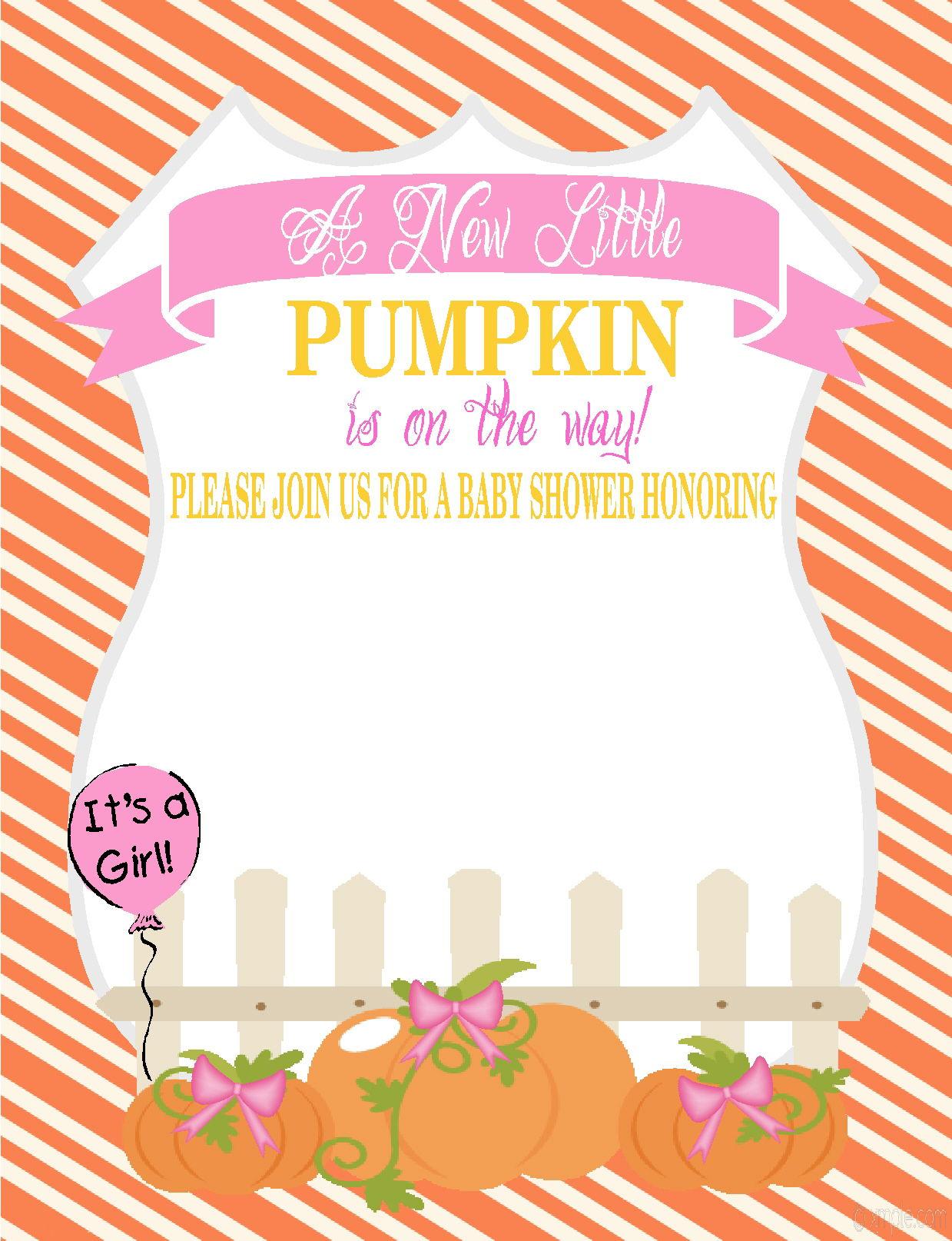 Little Pumpkin Ba Shower Invitations Lets Do It Cakraest throughout measurements 1239 X 1614
