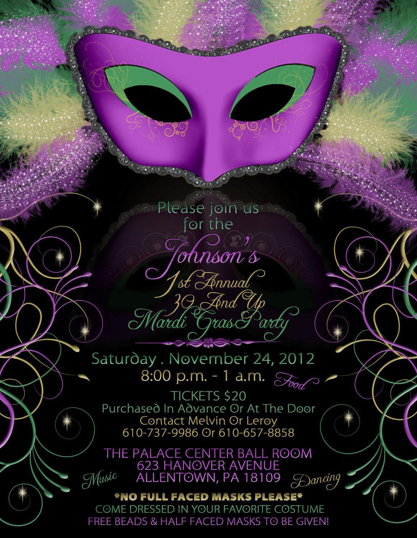 Mardi Gras Birthday Party Invitations Mardi Gra Mardi Gras Party for dimensions 1163 X 1500