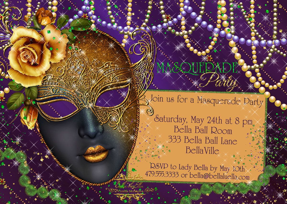 Masquerade Party Invitations Wanted To Showcase A Few More in sizing 1200 X 857