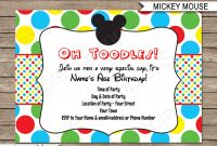 Mickey Mouse Party Invitations Template Birthday Party within dimensions 1300 X 1126